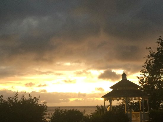 St. James's Club Morgan Bay: Sunset at Gazebo