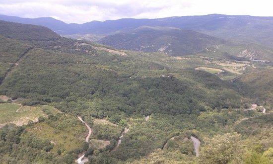 Chateau de Termes: vue du chateau