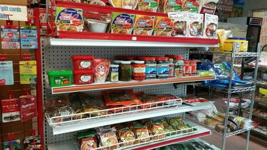 Ice Cream Junction & Oriental Food Mart: Mini store with Filipino foods