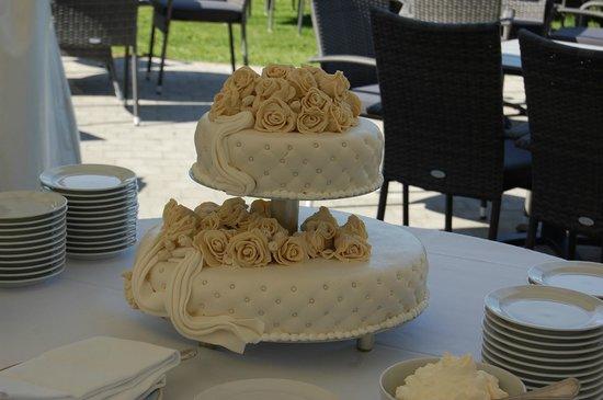 Bandholm Hotel : lækker bryllupskage