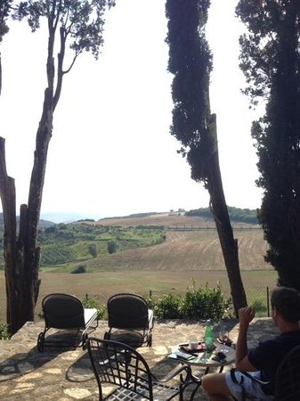 View from behind the villa