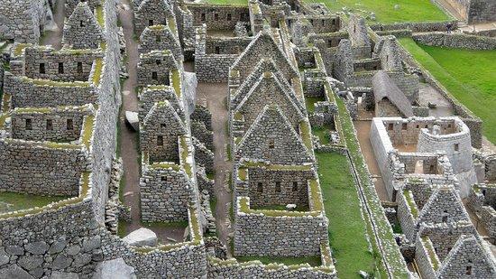 Las casas del pueblo de Machu Picchu.