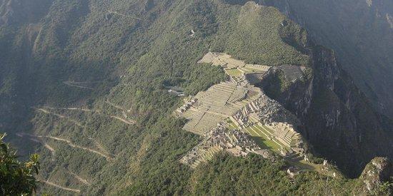 Machu Picchu: Vista desde el Huayna Picchu, la montaña vecina.