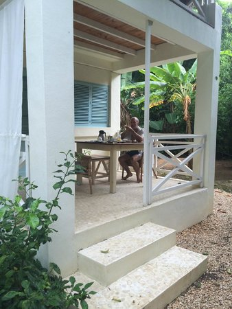 Hotel Piratas del Caribe: The double room's patio