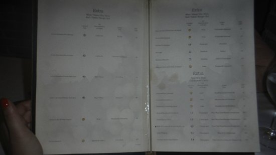 Iberostar Grand Hotel Rose Hall : filthy stained menu