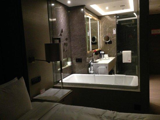 Hilton Xi'an High-tech Zone: banyo desde la habitacion
