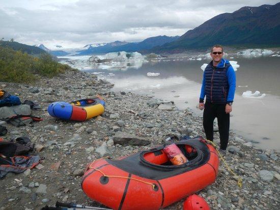 Kennicott Wilderness Guides - Day Trips : Prepping to packraft Nizina Lake