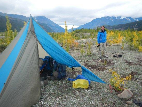Kennicott Wilderness Guides - Day Trips : Landing strip at Nizina Lake