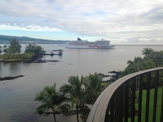 Castle Hilo Hawaiian Hotel : Vue depuis une chambre au 4è