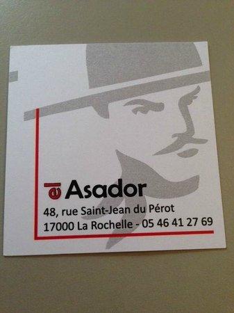 El Asador business card