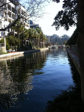 Waterfront Village: A canal view