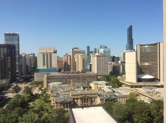 Hilton Toronto: the view from floor 23