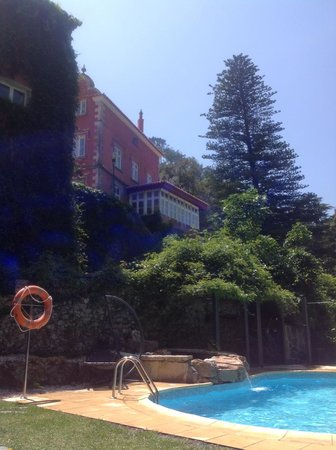 Quinta das Murtas: View from the pool to the main house