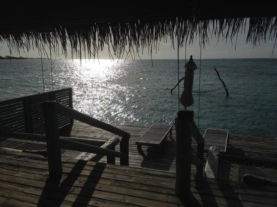 Gili Lankanfushi Maldives: looking out from the master suite