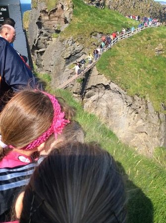 Carrick-A-Rede Rope Bridge: what you see is what you get, it is that small
