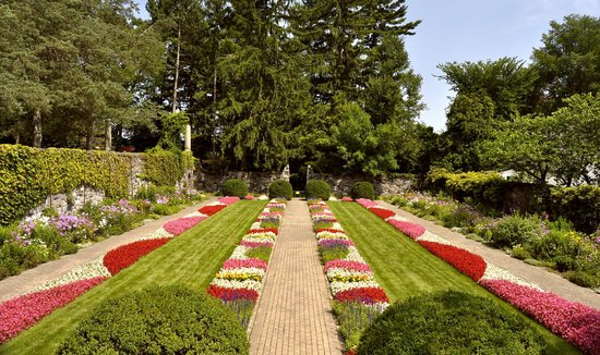 Cranbrook House and Gardens: Sunken garden full