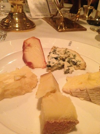 Le Gavroche: my cheese selection