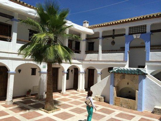 Hacienda Minerva: one of the various courtyard