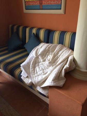 Grand Bahia Principe Punta Cana : This is how the comforter was left in our room after housekeeping.