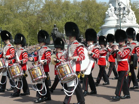 Changing of the Guard: The guards in all their finery