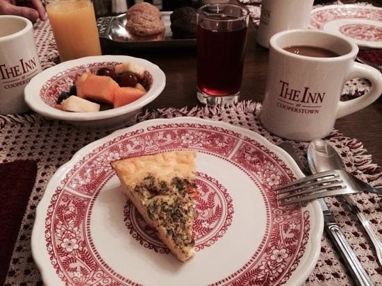 The Inn at Cooperstown: typical breakfast