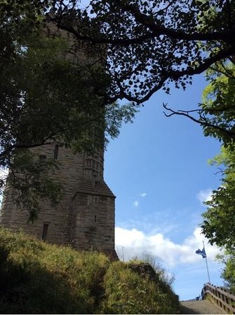 National Wallace Monument: First glimpse as you walk up the hill