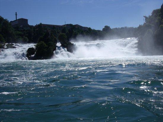 Rhine Falls : Aproximándose en barca a las cataratas