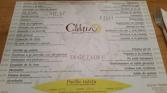 El Castizo: Varied menu