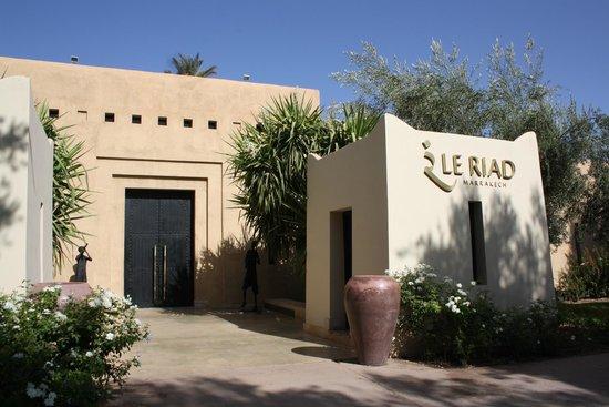 Club Med Marrakech le Riad : l'entrée du Riad à l'intérieur du Club Med La Palmeraie