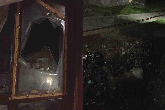 Guest House Kudos: 破爛的窗戶及戶外殘破情景