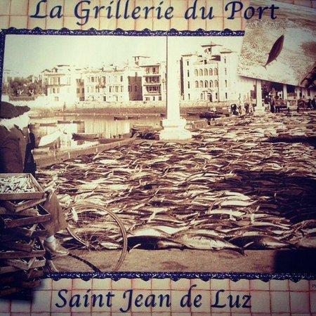 la grillerie de sardines : The place mat says everything!