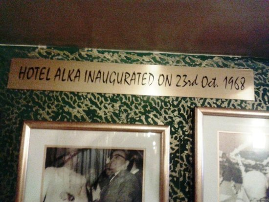 Hotel Alka Classic: Inaugrated on 23 Oct 1968