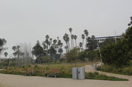 Wide View of Tongva Park.