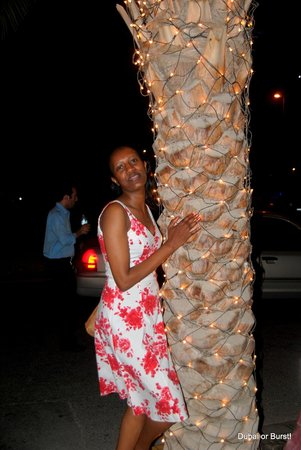 First Central Hotel Suites: my friend hugging the trees