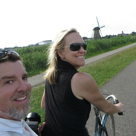 Mühlenanlagen in Kinderdijk-Elshout: Biking it is easy!