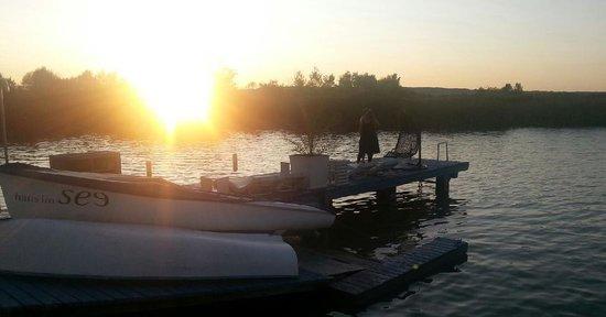 Haus Im See: Die Abendsonne genießen...