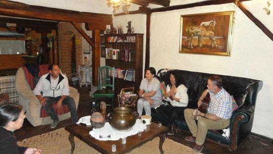 Hotel Casa de Hacienda La Jimenita: Impromptu party with owners, neighbors and guests.