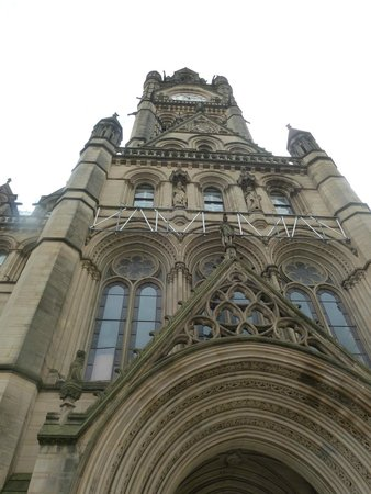 Facade of the Manchester Town Hall
