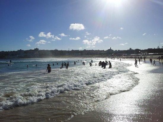 Sunny and warm Bondi beach
