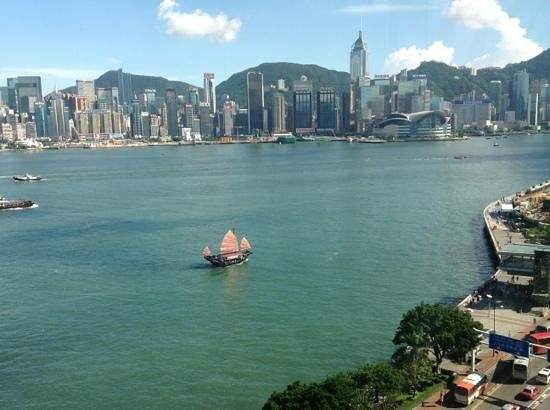 Kowloon Shangri-La Hong Kong: My favourite harbour view from Horizon Club!!
