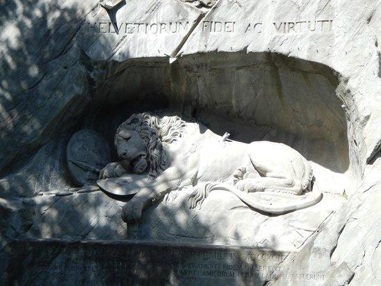 Monumento al león de Lucerna: Dying Lion Monument, Lucerene