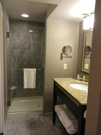 The Strathallan Rochester Hotel & Spa - a DoubleTree by Hilton: king suite bathroom