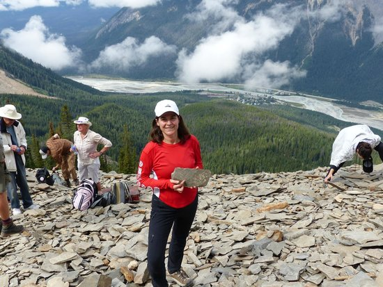 Yoho National Park, Canadá: Love the view from this amazing 500 million year old fossil bed!