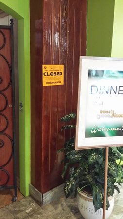 All Inclusive Inverrary Vacation Resort: Department of Health Notice at Restaurant!