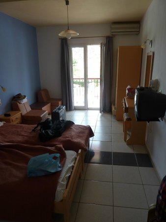 Marilena Hotel of Molivos : View towards the balcony