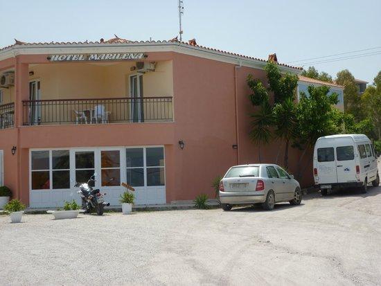 Marilena Hotel of Molivos : Rather uninteresting side view