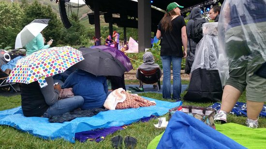 Red Butte Garden: concerts are held rain or shine