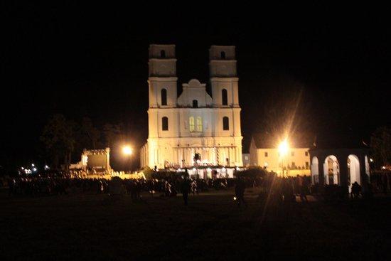 Aglona Basilica: The Basilica at night