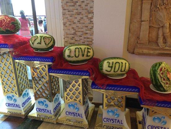 Crystal Sunrise Queen Luxury Resort & SPA: Fruit Art