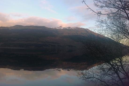 Loch Lomond: A view of Ben Lomond at Tarbet as the sun sets